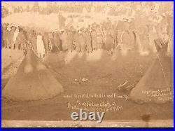 Rare Cabinet Photo Pine Ridge Agency Wounded Knee Native American Historical