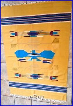 Rare Chimayo Thunderbird Rug