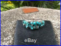 Rare David Freeland Jr Turquoise Ring Size 9