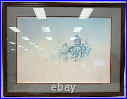 Rare Donald Vann Wayfaring Hand Signed Limited Edition Matted Framed Print