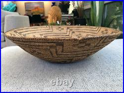 Rare Early Southwestern Native American Indian Basket Tray 17.5