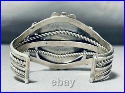 Rare Easter Blue Turquoise Vintage Navajo Sterling Silver Bracelet