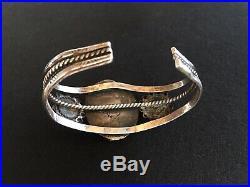 Rare Fred Harvey Era Turquoise Sterling Silver Zuni Cluster Cuff bracelet Navajo