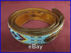Rare Handmade Large Turquoise Bear Paw Claw Belt Buckle Tony Lama Beaded Belt