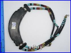 Rare James Crespin Santo Domingo Heishi Turquoise Multi-stone Inlay Necklace