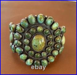 Rare Kirk Smith Turquoise Cluster Cuff Large