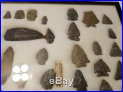Rare LARGE LOT OF 42 PENNSYLVANIA INDIAN NATIVE AMERICAN Arrowheads Artifact