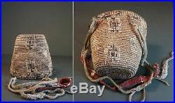 Rare Late1800 Native American Northwest Klickitat Human Figure Imbricated Basket