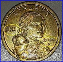 Rare Native American Sacagawea 2000 P Coin
