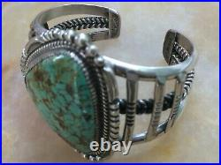 Rare Old Pawn Native American Navajo Royston Turquoise Sterling Cuff Bracelet