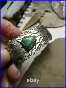 Rare Old Wow Navajo Sterling Ingot Arrow Cuff Fred Harvey Classic Sterling