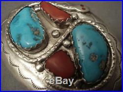Rare Older Hallmark Zuni Effie Snake Persian Turquoise Buckle