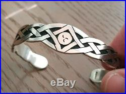 Rare One Of A Kind Vintage Native American Hopi Sterling Cuff Bracelet 1 Oz