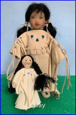 Rare Riley Sized Helen Kish Doll, Blue Bonnet 2006 Ufdc, Exquisite Costume