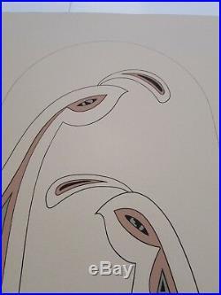 Rare Signed Diane O'Leary Native American Comanche Irish QUAIL Serigraph Print