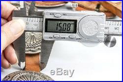 Rare Sterling Silver STUNNING Vintage Navajo Concho Belt 70's