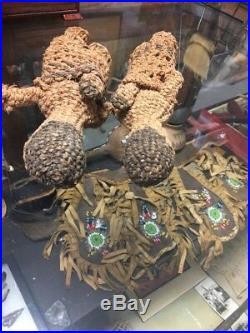 Rare! Two Native American Klamath Indian Basket Dolls