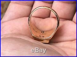 Rare Unisex / Mens Zuni Dickie Quandelacy Blue Lapis & 14k Gold Ring Size 12-1/2