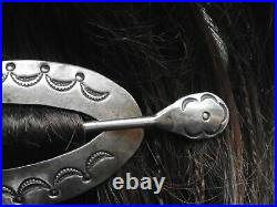 Rare Vintage Hair Pin Real Old One With Stick Pin Sterling Silver