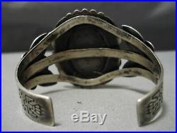 Rare Vintage Navajo Blue Diamond Turquoise Sterling Silver Bracelet