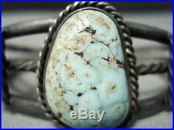Rare Vintage Navajo Dry Creek Turquoise Sterling Silver Bracelet Old