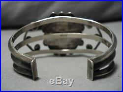 Rare Vintage Navajo Elizabeth Whitman Turquoise Sterling Silver Bracelet Old