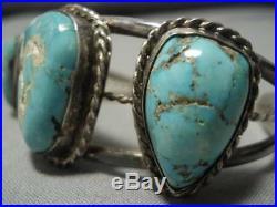 Rare! Vintage Navajo Royston Turquoise Sterling Silver Bracelet Old