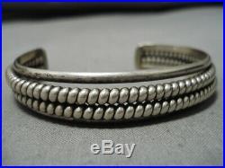Rare Vintage Navajo Twisted Sterling Silver Native American Bracelet Old