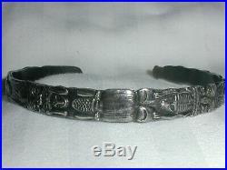 Rare Vintage Northwest Tlingit Sterling Totem Bracelet- Ejt- Bill Wilson