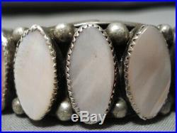 Rare Vintage San Felipe Native American Sterling Silver Torpedo Bracelet Cuff