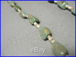 Rare Vintage Santo Domingo Royston Turquoise Heishi Native American Necklace