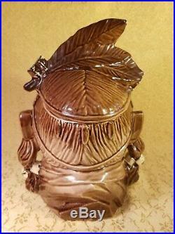 Rare Vtg Pontiac Native American Indian Cookie Jar by McCoy, Orginal 1954, V. G. C