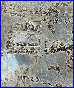 STERLING SILVER ORVILLE TSINNIE Agatized Dinosaur Bone BELT BUCKLE BELT-RARE