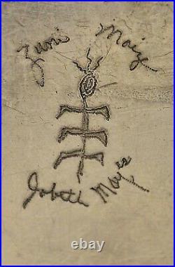 Signed JOBETH D. MAYES Maize Zuni BELT BUCKLE Sterling Silver RARE LEAF DESIGN