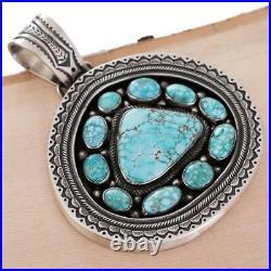Squash Blossom Necklace Pendant Calvin Martinez Number Eight Rare #8 Turquoise
