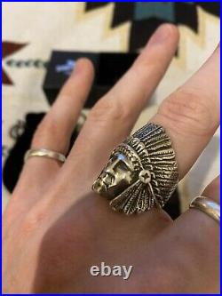 The Great Frog Native American Chief Ring Discontinued Rare