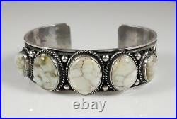 Turquoise Bracelet Navajo Sterling Silver Rare Carico Lake Row Andy Cadman