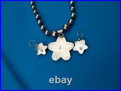 VERY RARESterling Silver Navajo Purple Spiney Oyster Star Necklace and Earrings