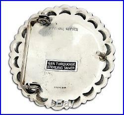 VTG Rare Navajo Signed Sunshine Reeves. 925 Silver Belt Buckle