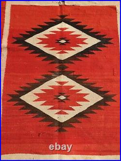 Very Rare Antique Centenary NAVAJO Rug -Turn of the century (reservation period)