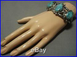 Very Rare! Vintage Navajo Royston Turquoise Sterling Silver Bracelet Old