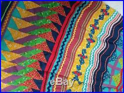 Vintage 1950s Seminole Native American Patchwork Skirt Long Womens Rare