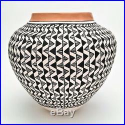 Vintage 1960's Rare Poly Chrome Acoma Pottery Native American Pot