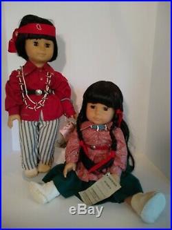 Vintage Gotz 18 starshine dolls Rare Morningstar And Little Bear Dolls