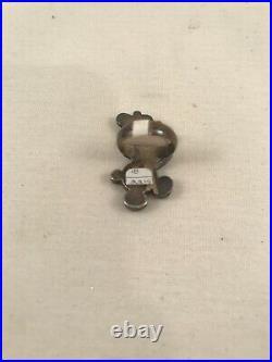 Vintage MP Zuni Mickey Mouse Sterling Silver Turquoise Inlay Ring Size 4.5 RARE