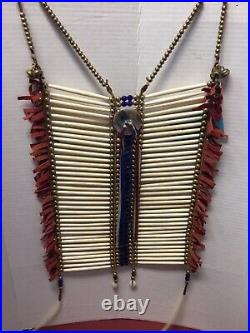 Vintage Native American Navajo Breast Plate Rare