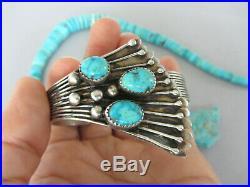 Vintage RARE Navajo Birdseye Spiderweb Turquoise Sterling 6.25 Bracelet Cuff