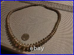 Vintage Rare Navajo Sterling Silver Bench Beads 25 Inch Necklace Graduated