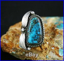 Vintage Sam Piaso Rare High Grade Bisbee Turquoise Ring