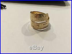 Vintage Tlingit Gold Ring Ed Kunz Original Juneau Alaska Signed Rare